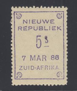 New Republic Sc 12 var, SG 16,  MLH. 1886 5s violet, 7 MAR 86 date, VF