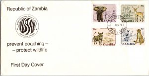 Zambia, Worldwide First Day Cover, Animals