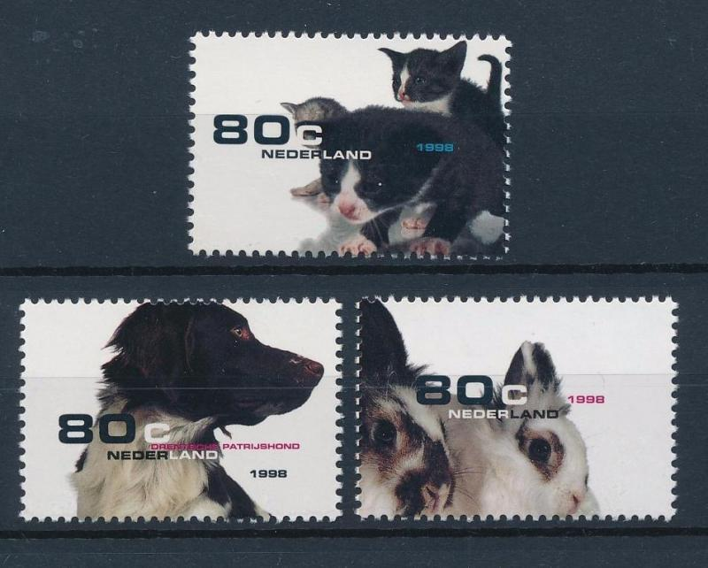 [38348] Netherlands 1998 Animals Pets Cat Dog Rabbit MNH