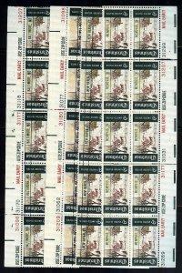 #1384 6c Christmas - PLATE BLOCKS 10 - VF og NH x4 DIFF PRECANCELS cv$175