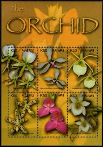 Malawi MNH S/S Orchids 2003 6 Stamps
