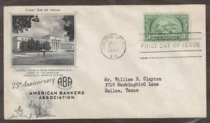 Scott 987 - American Bankers Association FDC  Signed John J. Gillen.  #02 987FDC