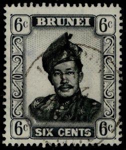 BRUNEI QEII SG104, 6c black & grey, FINE USED. CDS