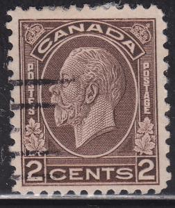 Canada 196 USED - 1932 King George V Medallion Issue 2¢