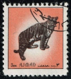 Ajman Unlisted Tiger Stamp (3Stars)