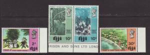 1970 Fiji Closing of Leprosy Hospital Set Mounted Mint SG420/423