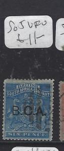 BRITISH CENTRAL AFRICA  (P2909B)  ARMS    6 D   SG  5  VFU