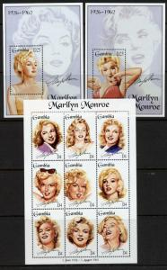 Gambia 1601-3 MNH Marilyn Monroe