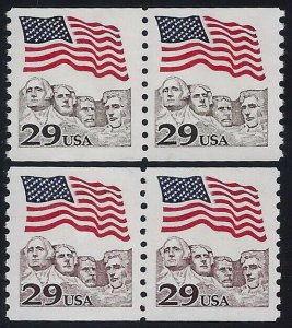 2523c & 2523 Toledo Brown Variety & Normal Pairs Flag Over Mt Rushmore Mint NH