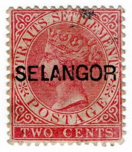 (I.B) Malaya States Postal : Selangor 2c OP (SG 30)
