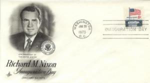 1973 Richard Nixon Inaug Flag (Scott 1338F) Artcraft