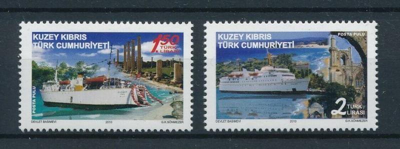 [97742] Turkish Cyprus 2010 Ships Boats  MNH