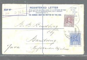 SARAWAK (PP2604B) 1926 12C RLE UPRATED 4C TO BANDOENG, NEI