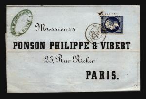 France 1856 Commercial Circular to Paris - Z15700