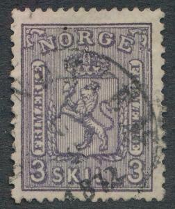NORWAY 13 USED, VF, LIGHT CDS CANCEL, 3 S
