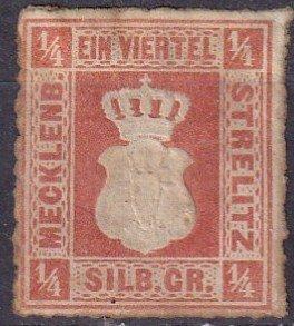 Mecklenburg-Strelitz #1 Unused  CV $175.00  (Z3052)