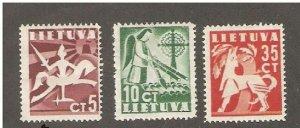 Lithuania 1940, Scott # 317-18,322, VF Mint Hinged* (A-25)