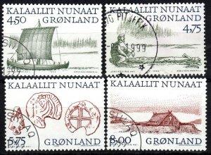 Greenland #351-4 F-VF Used CV $8.75 (X5257)