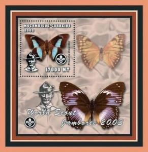 Mozambique - Butterflies -  Stamp S/S  - 13A-139