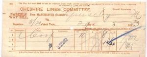AZ125 1893 *CHESHIRE* Manchester Central Guiseley Railway  {samwells-covers}PTS