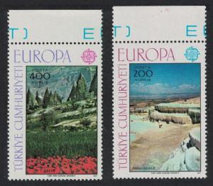 Turkey Europa Landscapes 2v Top Margins 1977 MNH SC#2051-2052 SG#2577-2578