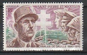 1972 St. Pierre and Miquelon - Sc C50 - MNH VF - 1 single - De Gaulle
