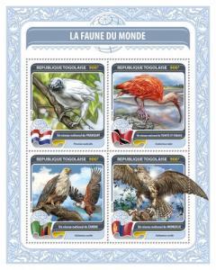 TOGO 2016 SHEET FAUNA OF THE WORLD WILDLIFE tg16420a