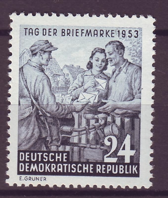 J14698 JLstamps 1953 germany DDR set of 1 mh #178, mail delivery