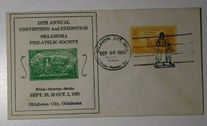 OPS Conv & Exhibition Mail Transportation Oklahoma OK 1950 Philatelic Expo Cover