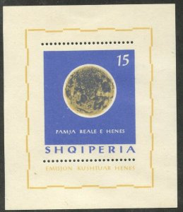 ALBANIA Sc#744 1964 Far Side of the Moon Souvenir Sheet OG Mint LH