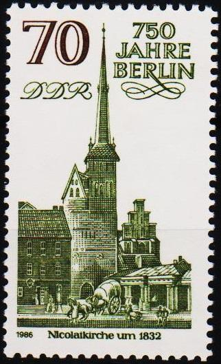 Germany(DDR).1986 70pf S.G.E2736 Unmounted Mint
