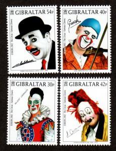 Gibraltar MNH 901-4 Clowns Europa 2002