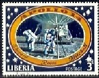 Apollo 14 Moon Landing, 1971, Liberia stamp SC#549 Used