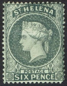 ST HELENA 1884 QV 6D WMK CROWN CA