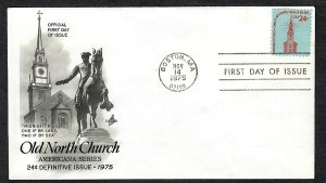 1603 Old North Church Unaddressed ArtCraft FDC