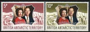 1972 BAT British Antarctic Silver Wedding set MNH Sc# 43 / 44 CV $6.50