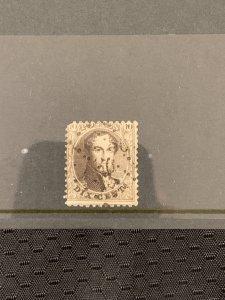 Belgia1851-Leopold I - Medaillon 6a 10c dark Brown- Thin papier- Wide margines