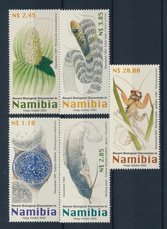 [40458] Namibia 2003 Animals Biological discoveries Catfish Snake MNH