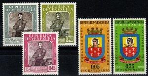 Venezuela #C747-9, C774-5 F-VF Unused CV $4.35 (X988)