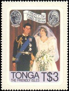 Tonga #485-488, Complete Set(4), 1981, Royality, Never Hinged