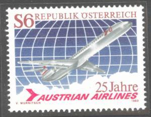 Austria Osterreich Scott 1236 MNH** 1983  Austrian Airlines stamp