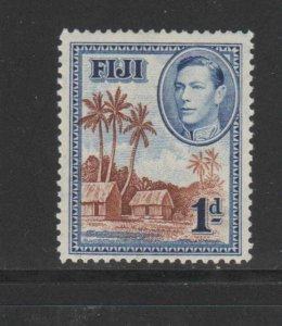 FIJI #118  1938  1p    KING GEORGE VI & FIJIAN VILLAGE   F-VF  USED
