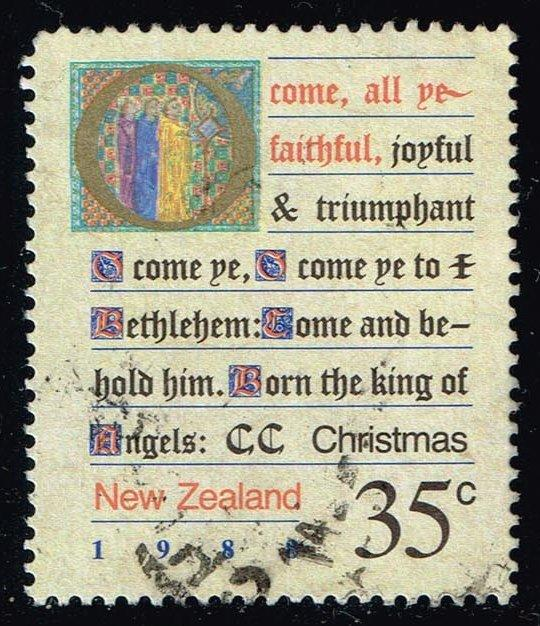 New Zealand #908 Christmas Carols; Used (0.40)