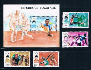Togo 1439-43 MNH set and SS Summer Olympics 1987 (T0091)
