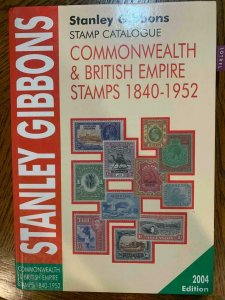 Stanley Gibbons Commonwealth & British Empire 1840-1952,Stamp Philately Book