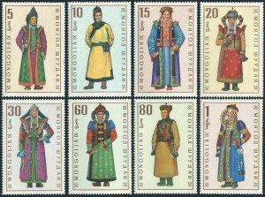 Mongolia 524-531,MNH.Michel 539-546. Regional Costumes,1969.