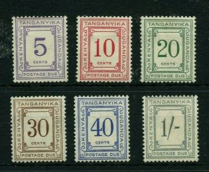 TANGANYIKA J7 - J12  * mint hinged Cat Value $33 - stamps
