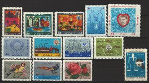 COLLECTION LOT # 5665 IRAN 13 MH STAMPS 1968+ CV+$10