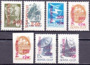 Uzbekistan. 1995. 51-56. Standard. MNH.