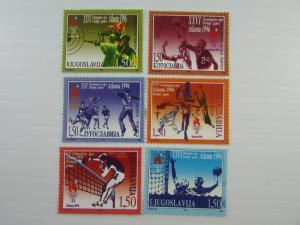 Yukoslavia SC # 2328-2333 Atlanta 1996 Olympics MNH stamp set